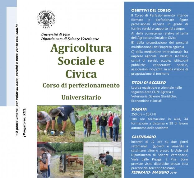 corso di perfezionamento in agricoltura sociale e civica