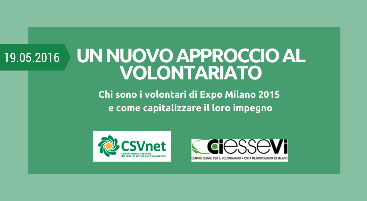 Report volontariato Expo 2015