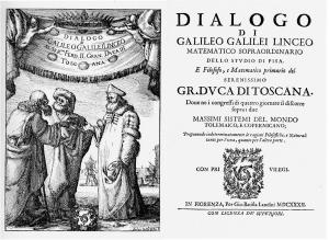 Vita di Galileo - Frontespizio del Dialogo