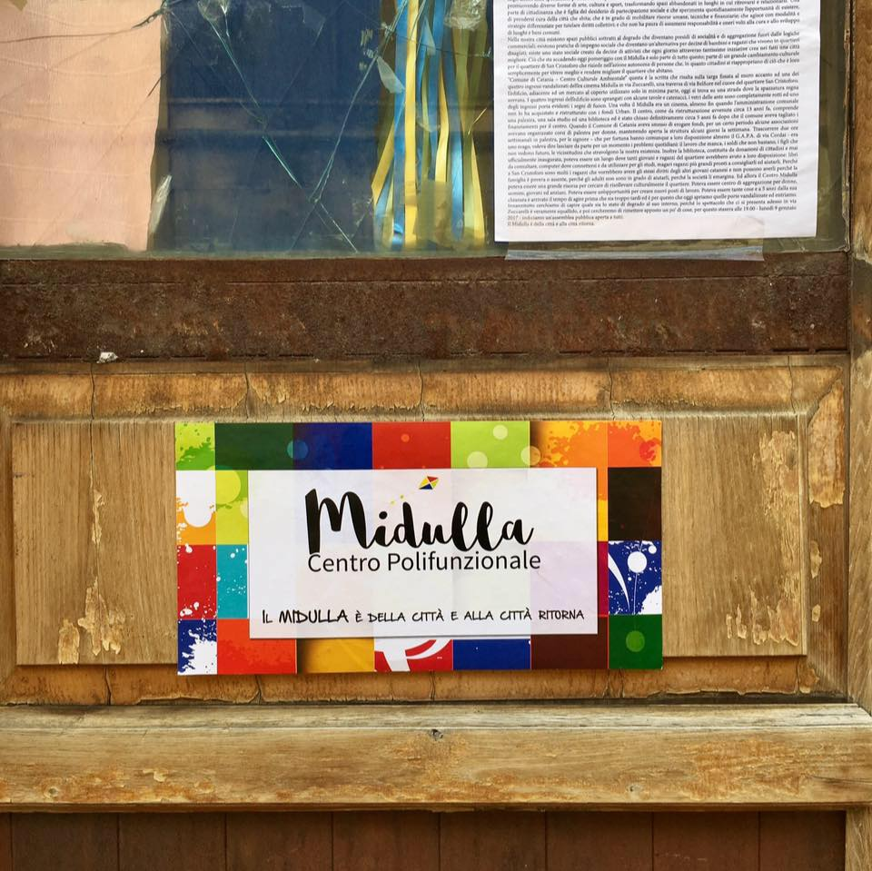 Ex cinema Midulla, a Catania i cittadini riaprono il centro polifunzionale