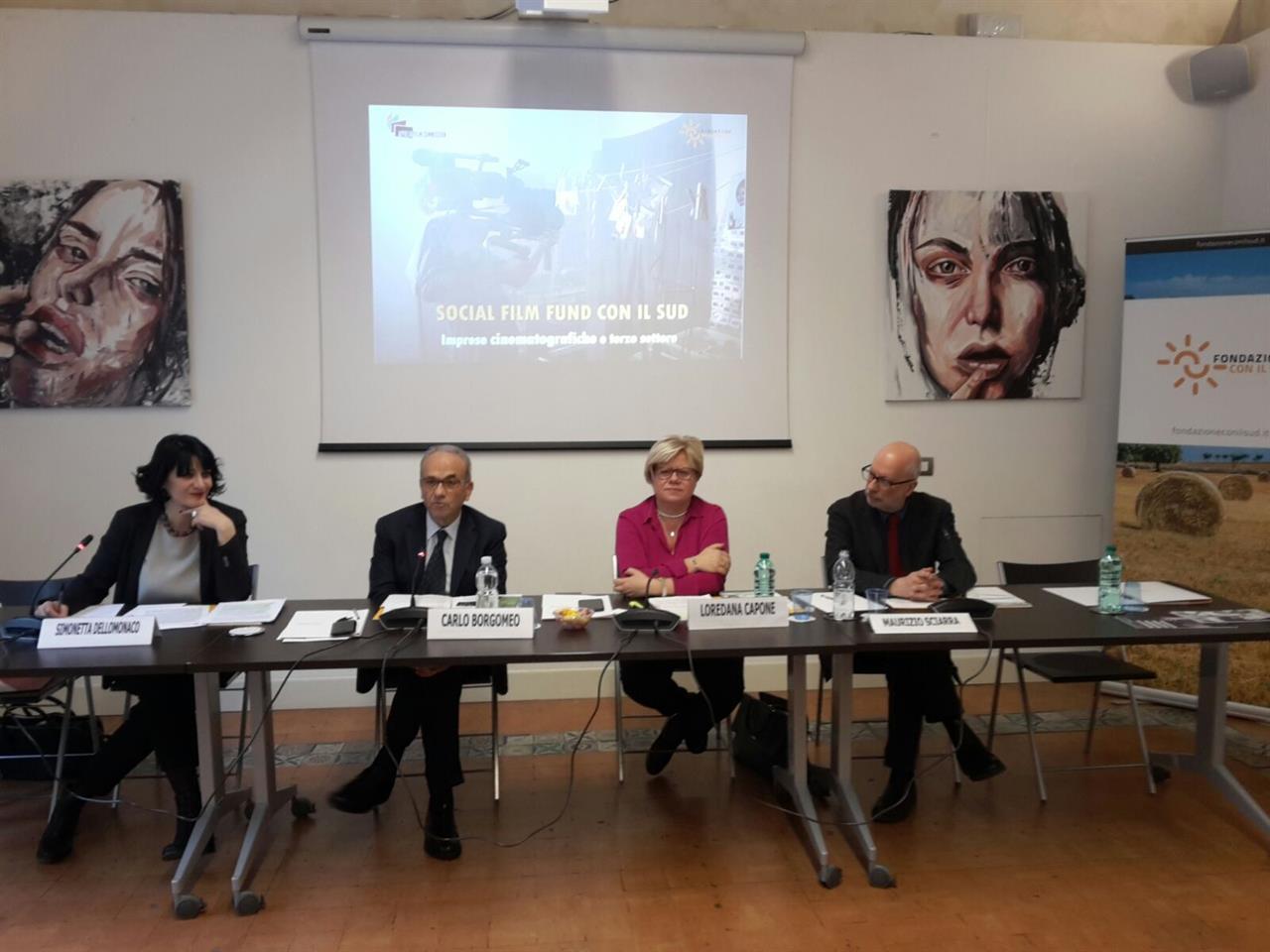 Presentazione del Social Film Fund- Con il Sud, 21 dicembre 2017
