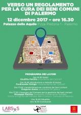 Locandina dell'incontro pubblico a Palermo